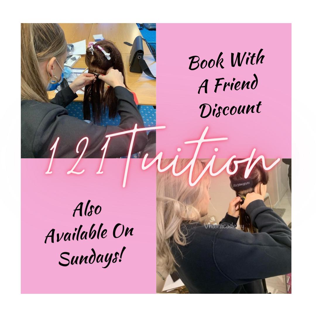 121 hair extension course