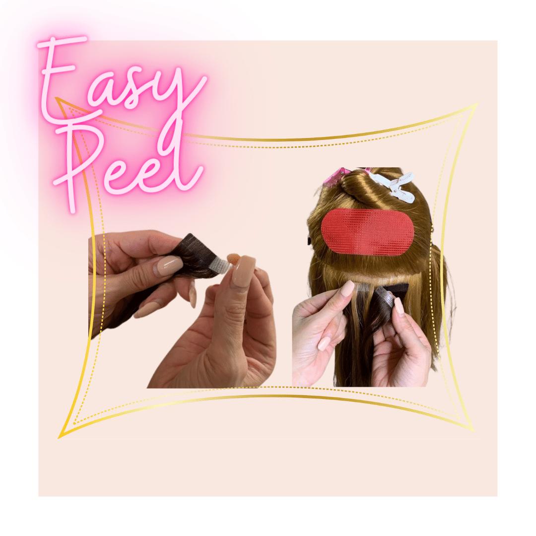 easy peel hair tape
